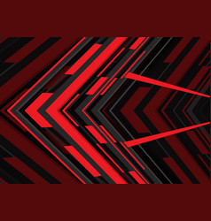 abstract red black arrow geometric direction on vector image