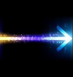 Abstract technology arrow line computer display vector