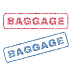 Baggage textile stamps vector
