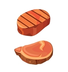 Beef steak meat vector
