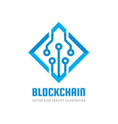 blockchain - concept business logo template vector image