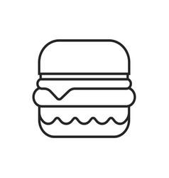 burger hamburger logo icon design vector image