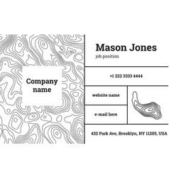 business card template contour map bar fathion vector image