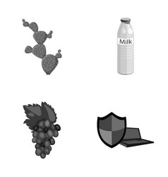 Cactus milk and other monochrome icon in cartoon vector