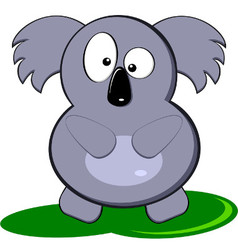 Cartoon Of Cute Gray Koala Bear vector image