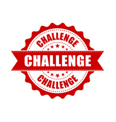 challenge grunge rubber stamp on white background vector image