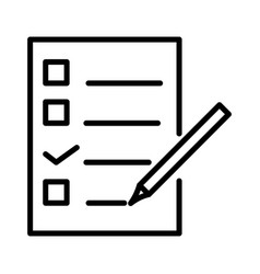 checklist document with pencil notepad paper vector image
