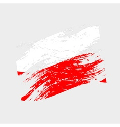 Color poland national flag grunge style eps10 vector