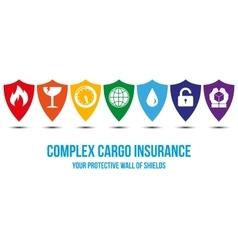 Complex cargo insurance desing concept vector