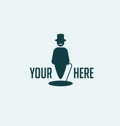 concept of gentleman logo vector image