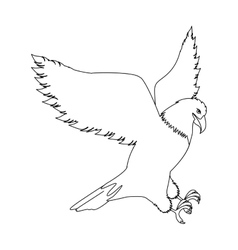 Contour eagle in hunting position vector