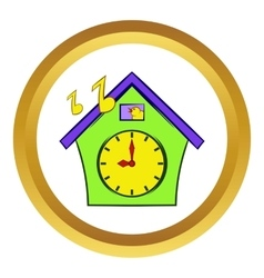 Cuckoo clock icon cartoon style vector