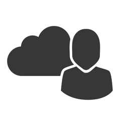 data cloud storage vector image