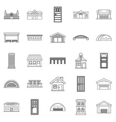 Design icons set outline style vector