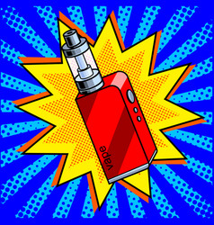 electronic cigarette comic book style vector image