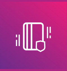 electronic pass card key linear icon vector image
