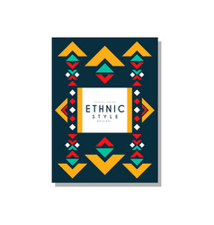 ethnic style original design ethno tribal vector image