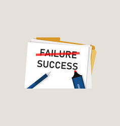 failure is success in progress inspirational text vector image