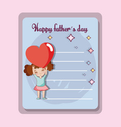 Father day card to celebrate special day vector