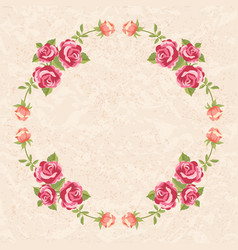 floral frame with roses vector image