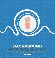 fluorescent lamp icon sign Blue and white abstract vector image