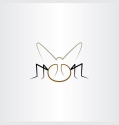 fly icon element insect vector image