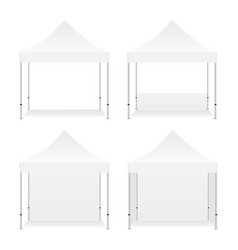 Four blank square tents isolated vector