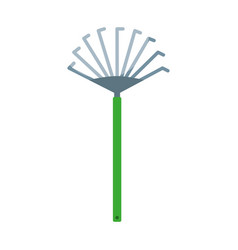 garden rake isolated icon vector image