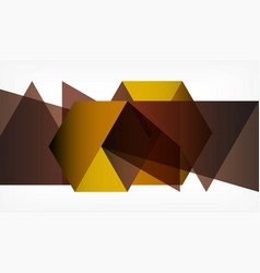 geometric polygonal background vector image