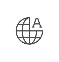 Global language line icon vector