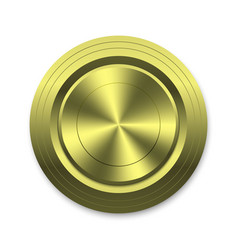 gold circle button template for your design vector image