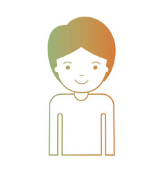 Half body guy with short hair in degraded green to vector