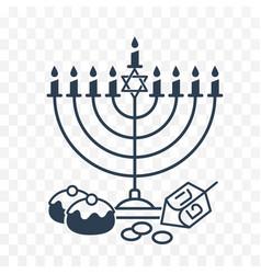 happy hanukkah on white background vector image