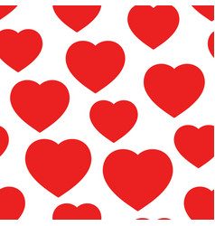 heart seamless pattern background business flat vector image
