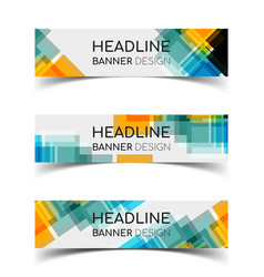 horizontal banner set 7 vector image