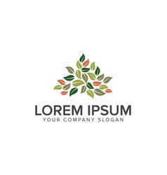 leaf gardening logo design concept template vector image