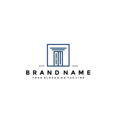 Letter bu law logo design vector