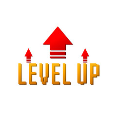 Level up logo vector