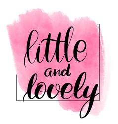 little and lovely vector image