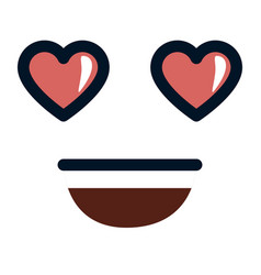 Lovely face emoji character vector