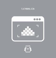 Low resolution image - flat minimal icon vector