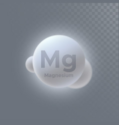 Magnesium mineral icon vector