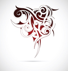 Maori ethnic tattoo vector image