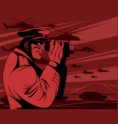 military leader in the war vector image