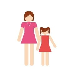 Mother and daughter family members vector