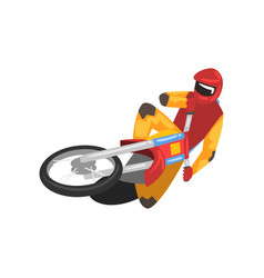 motorcyclist on motorbike motocross racing vector image