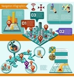 Navigation Infographic Set vector