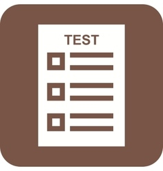 Online Test vector image