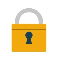padlock lock security money bank vector image