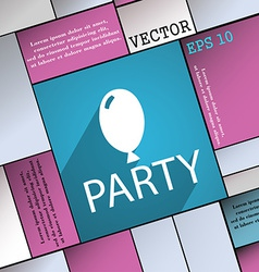 Party icon symbol flat modern web design with long vector